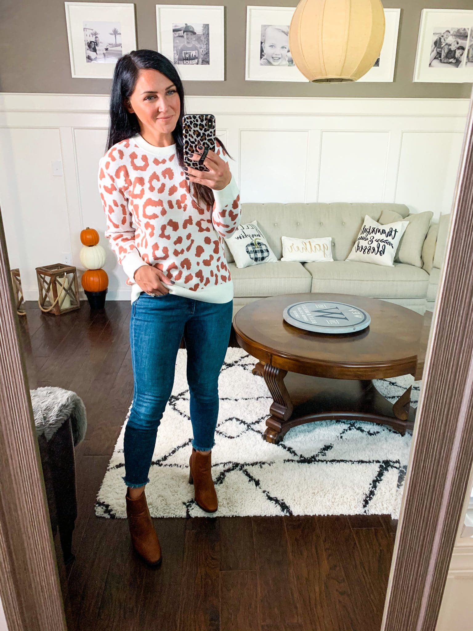 Leopard Sweater, Fall Amazon Finds, Fall Clothing Style, Stilettos and Diapers