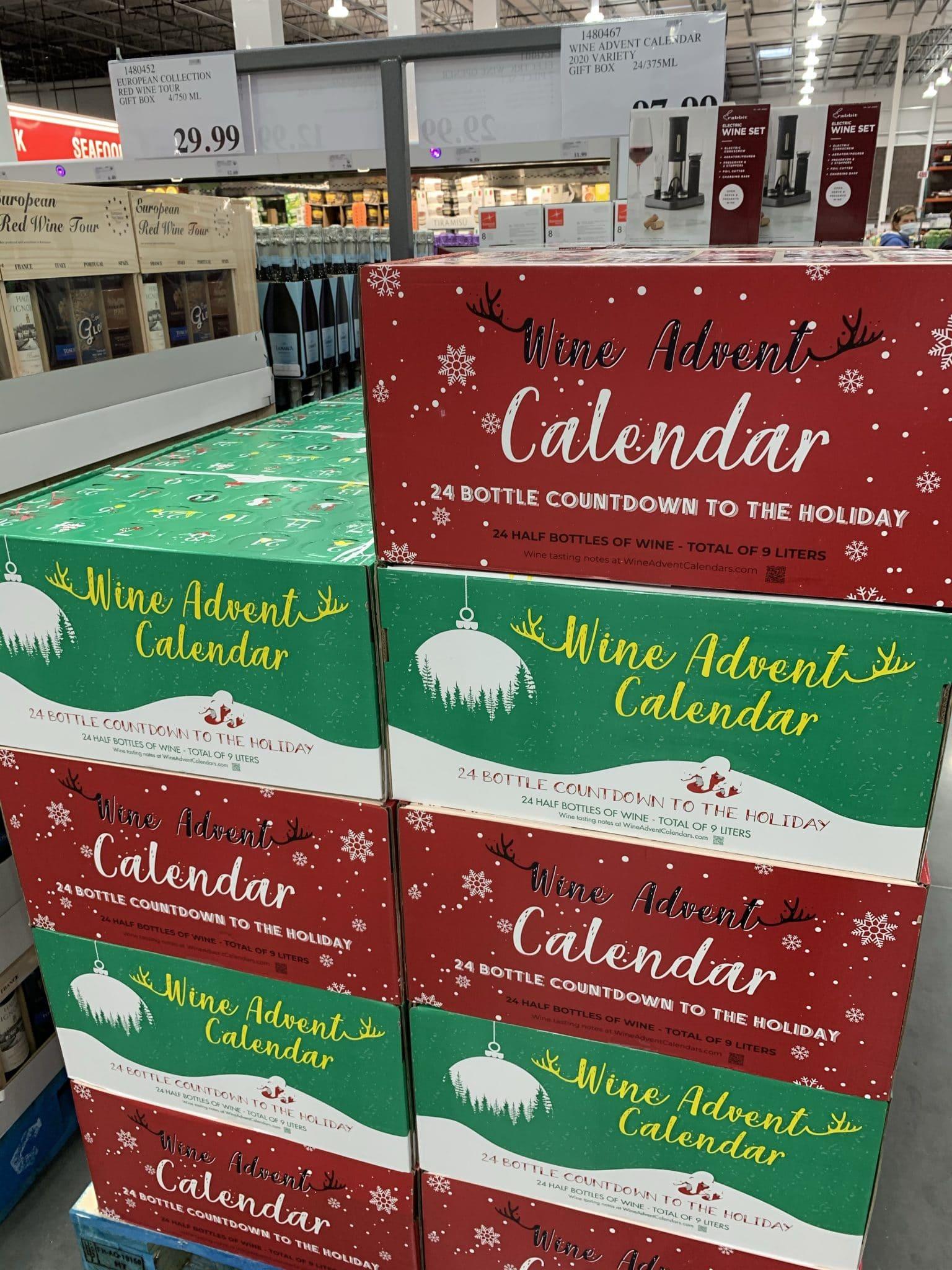 Costco Advent calendar, holiday wine advent calendar, Stilettos and Diapers