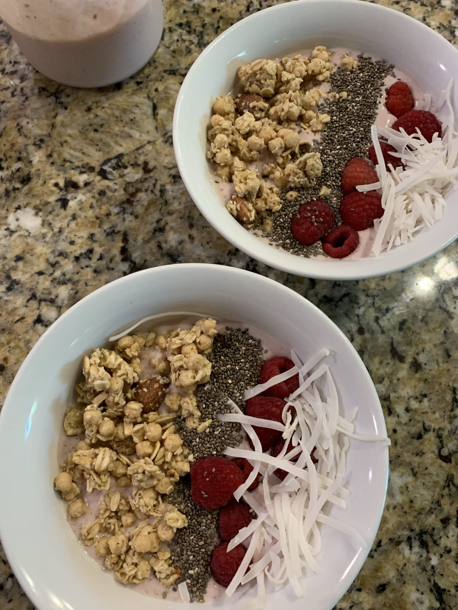 Smoothie Bowl, Berry Coconut Granola Smoothie, Stilettos and Diapers
