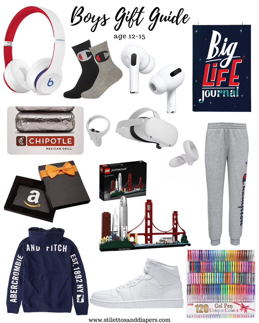Boys Gift Guide 12-15, Boys Christmas Ideas, Stilettos and Diapers