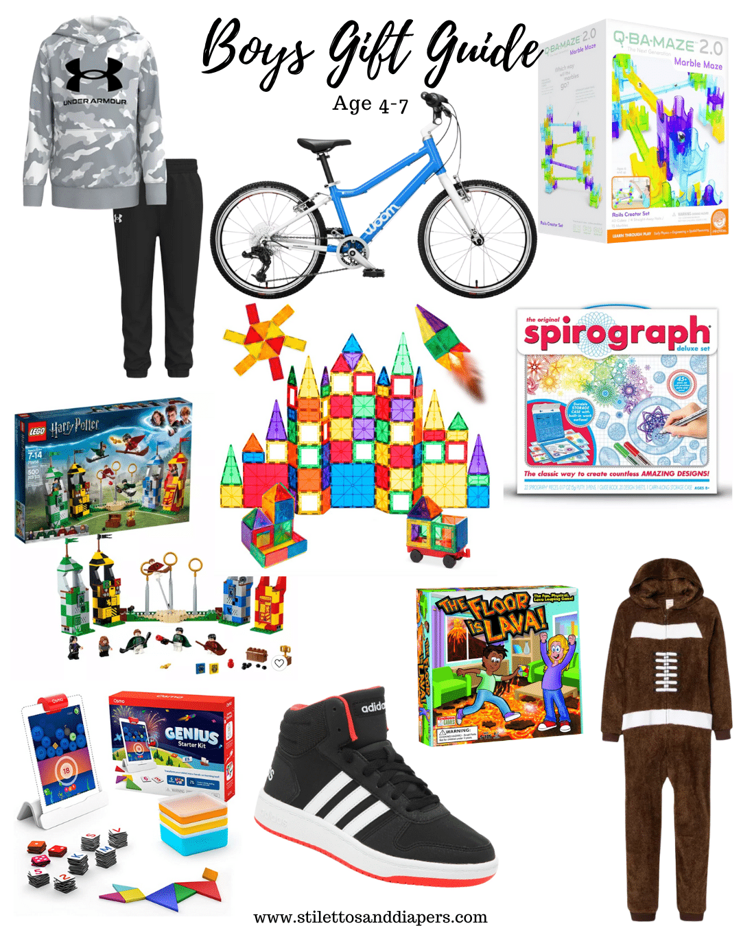 Boys Gift Guide 4-7, Boys Christmas Ideas, Stilettos and Diapers