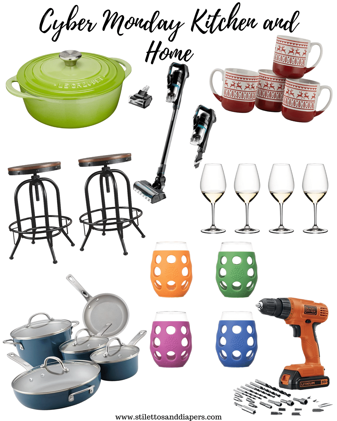 Cyber Monday Kitchen and home deals, Stilettos and Diapers