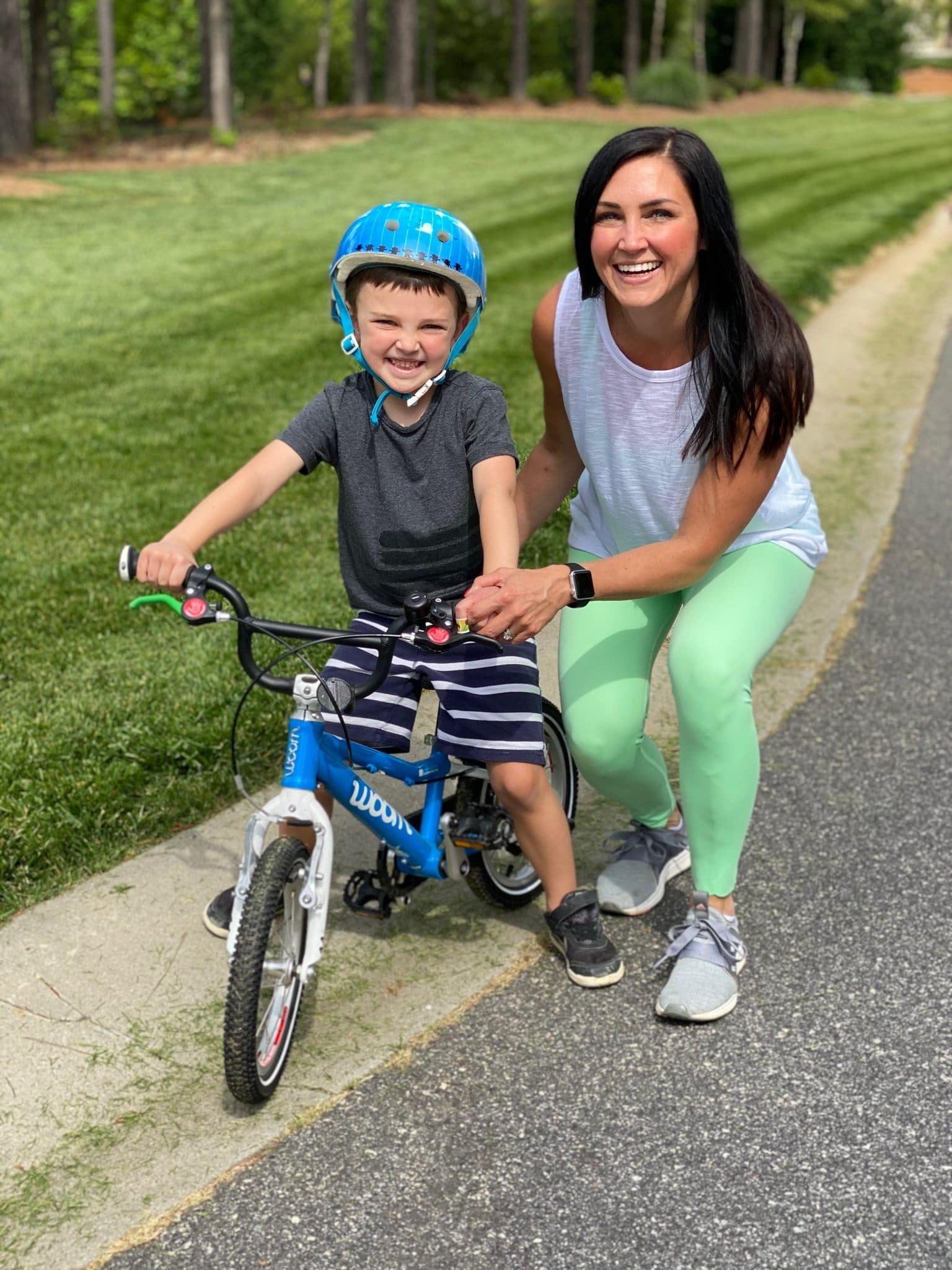 Woom Bike, learning to ride a bike, Stilettos and Diapers