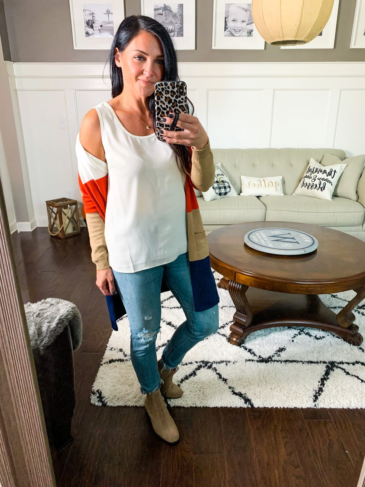 Best layering tanks under cardigan, Stilettos and Diapers, Molly Wey