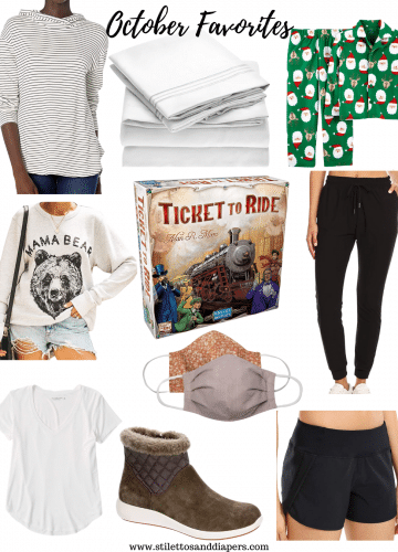 October Favorites 2020, Stilettos and Diapers