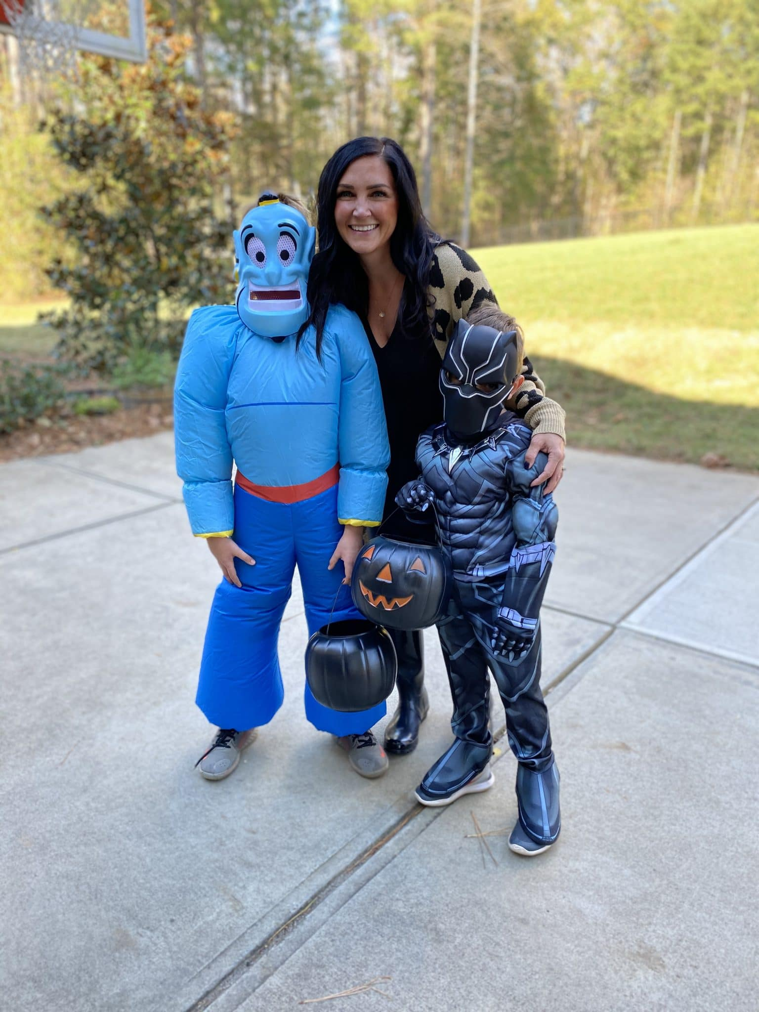 Genie costume, black panther costume, Stilettos and Diapers