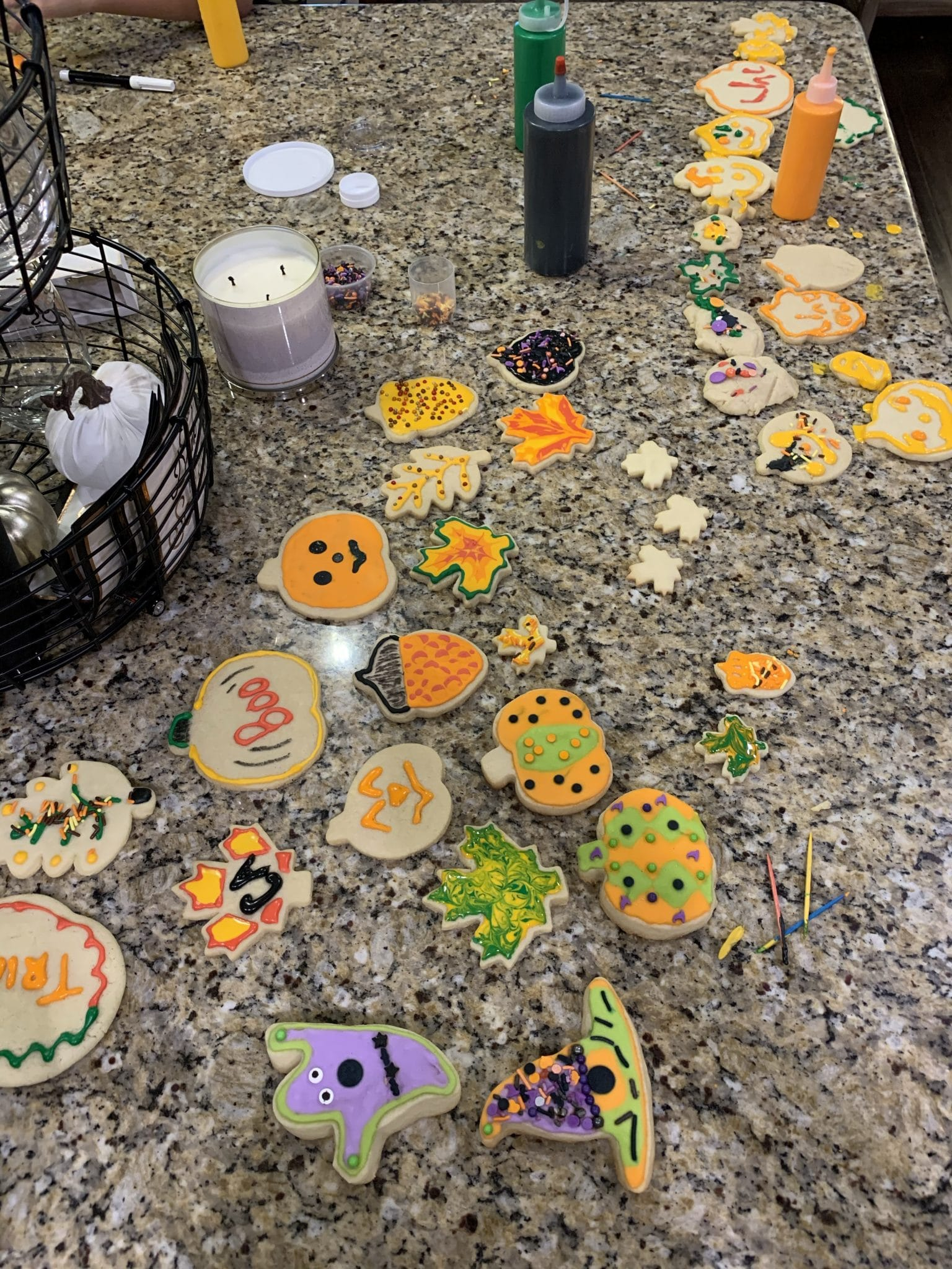 Halloween Cookie Making