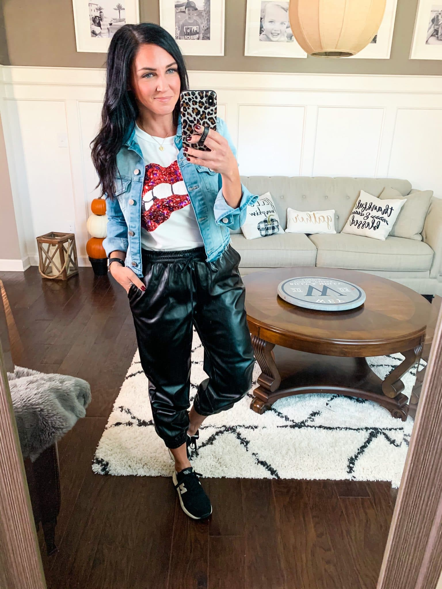 Casual leather joggers, Target Style, Stilettos and Diapers, Molly Wey