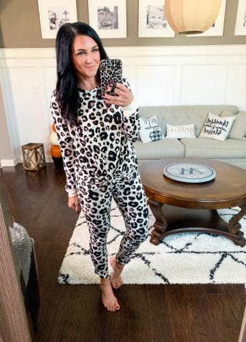 Leopard Pajamas, Target Style, Stilettos and Diapers, Molly Wey