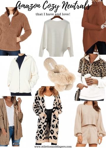 Amazon Cozy Neutrals, Amazon Fashion winter favorites, Stilettos and Diapers
