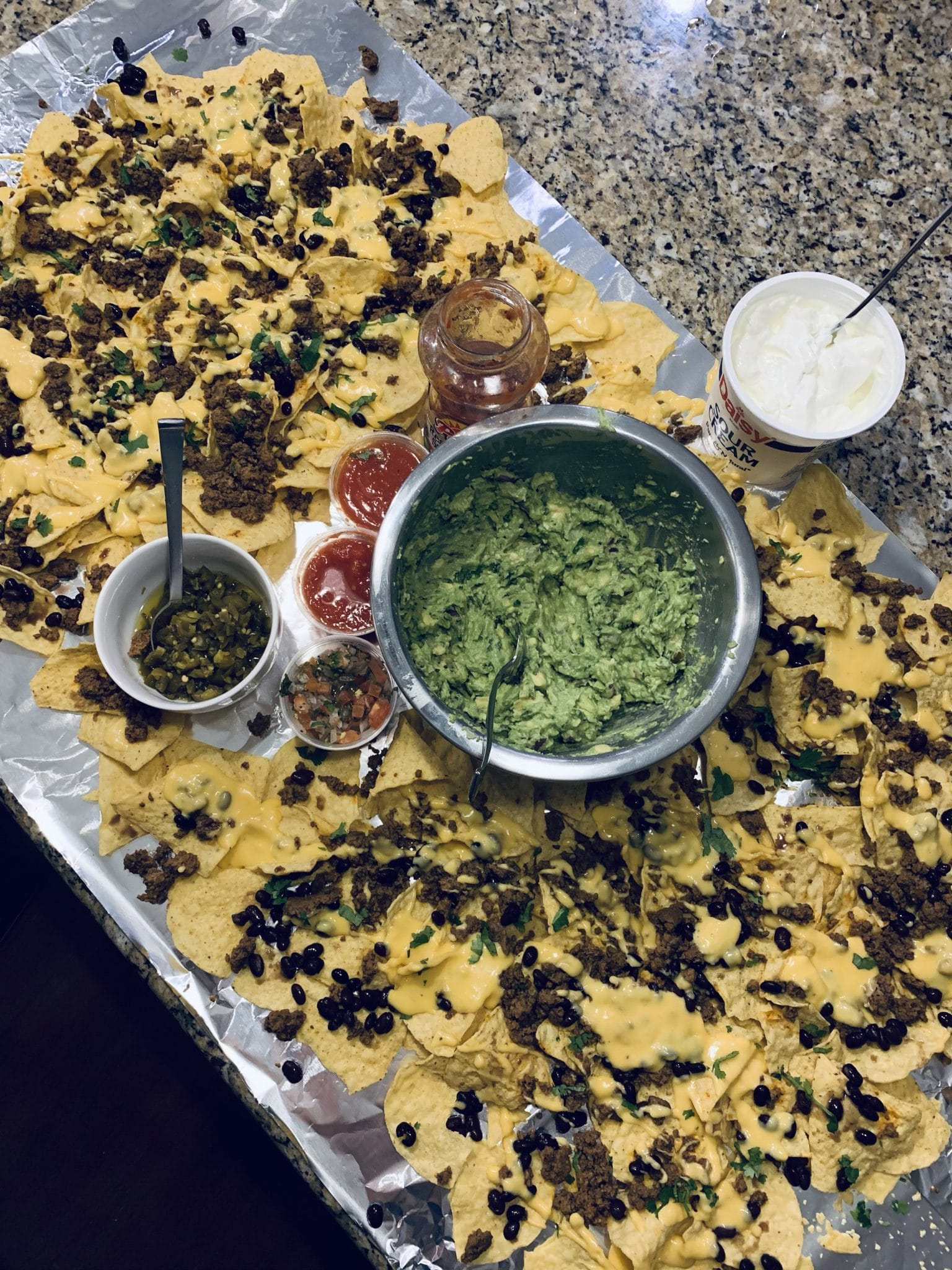 Epic Nacho Bar, Stilettos and Diapers