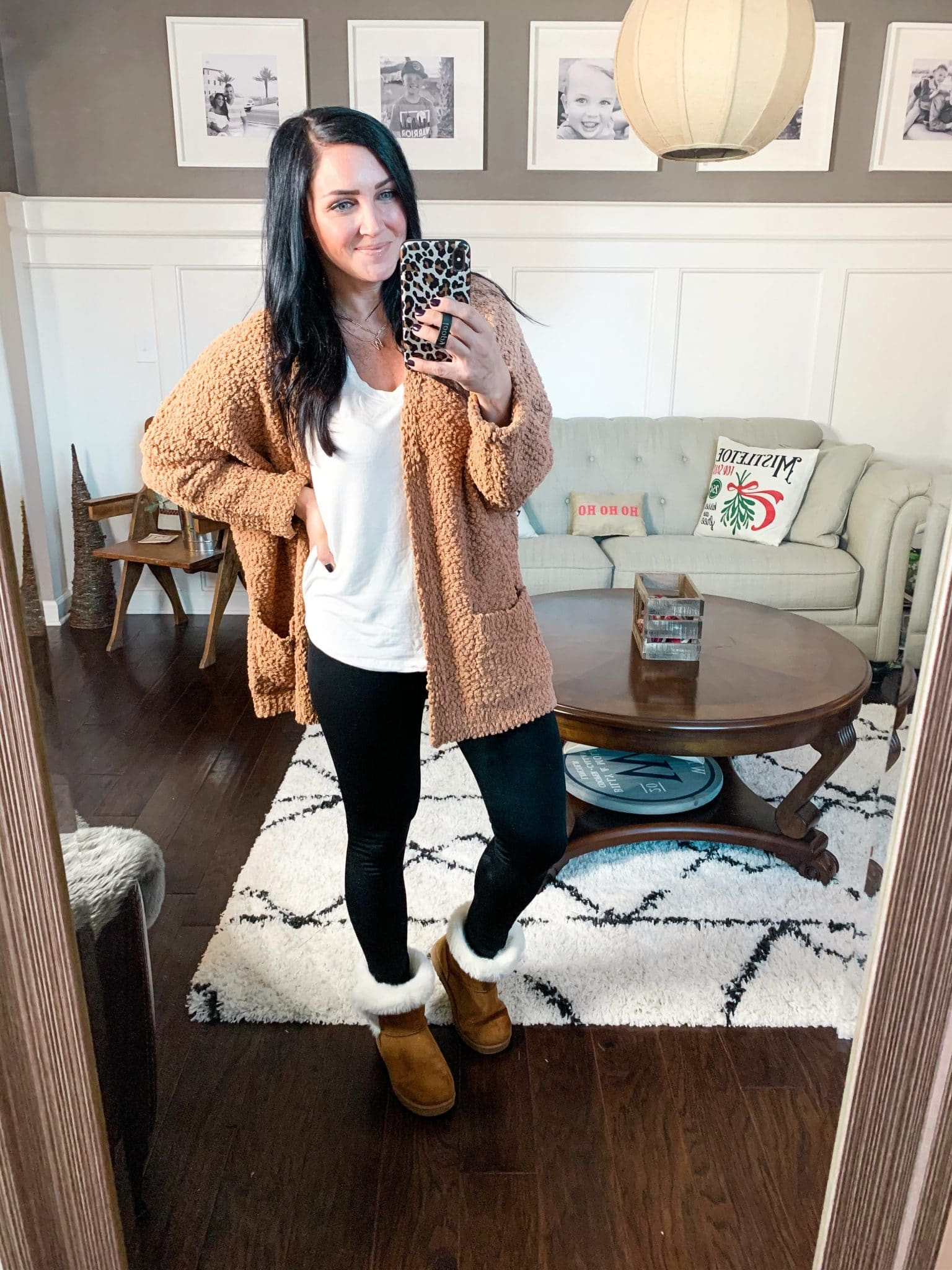 Cozy cardigan, popcorn cardigan, Amazon Finds, Amazon Winter Fashion, Stilettos and Diapers