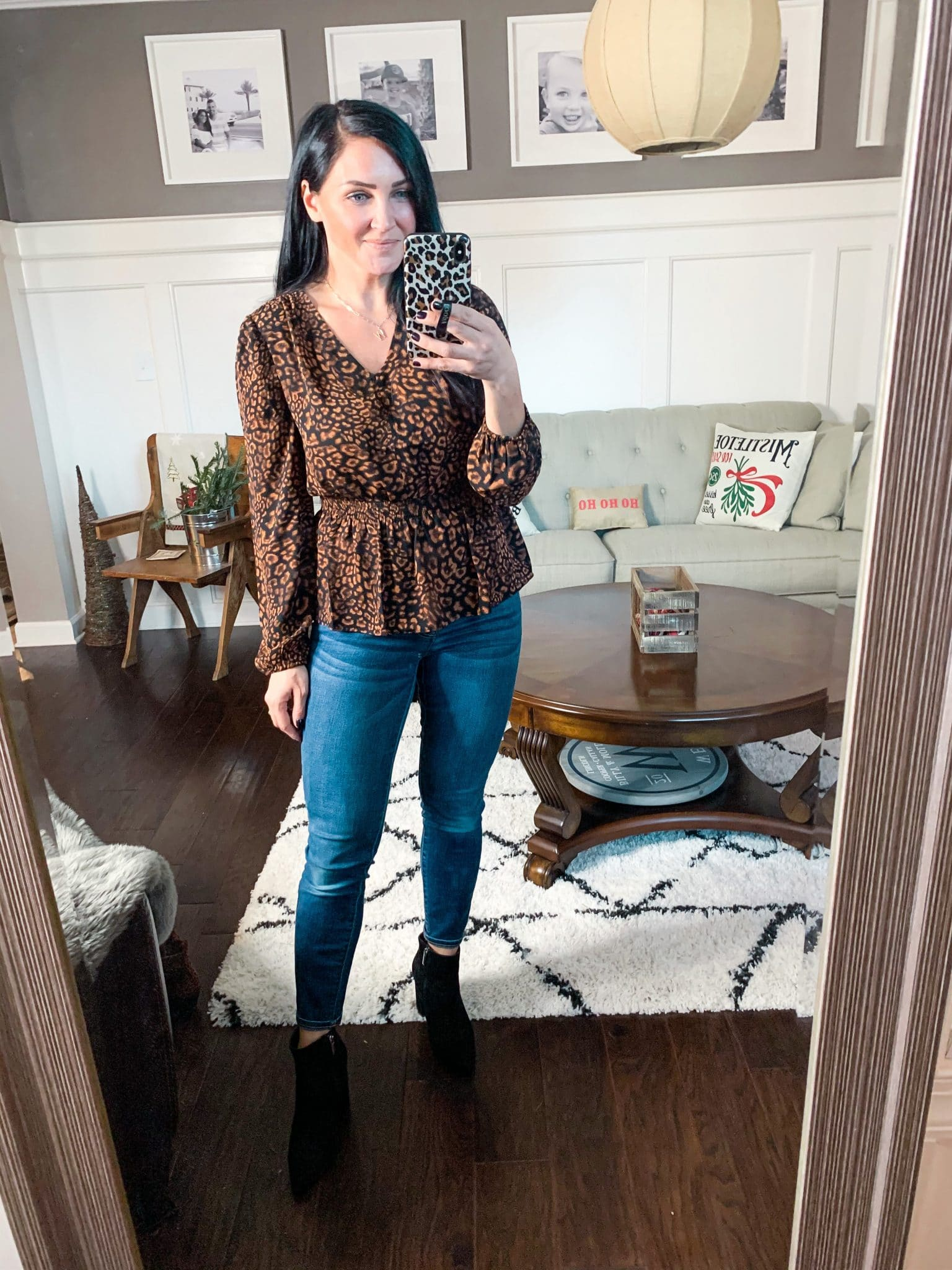 Winter work wear, Leopard blouse, peplum blouse, Amazon Finds, Amazon Winter Fashion, Stilettos and Diapers