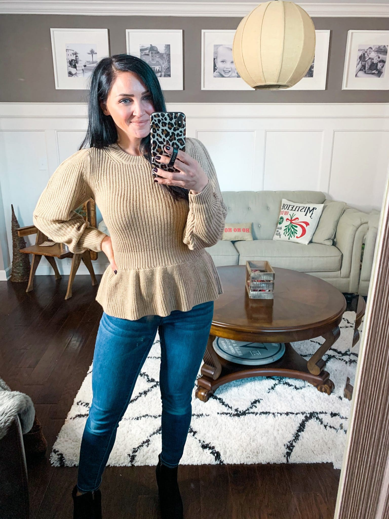 Peplum sweater, Amazon Finds, Amazon Winter Fashion, Stilettos and Diapers