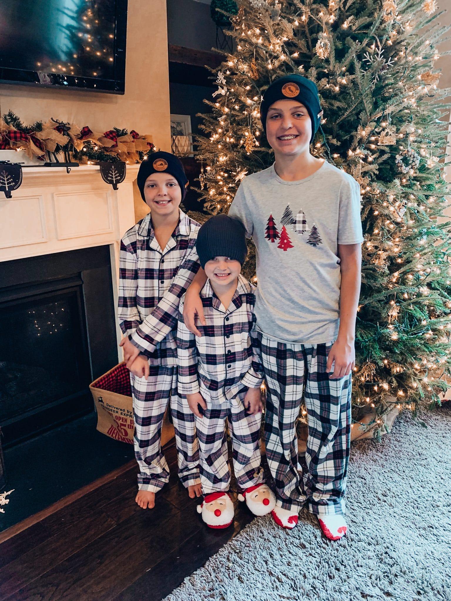 Family Matching pajamas, Stilettos and Diapers, Christmas 2020, Christmas Home Decor