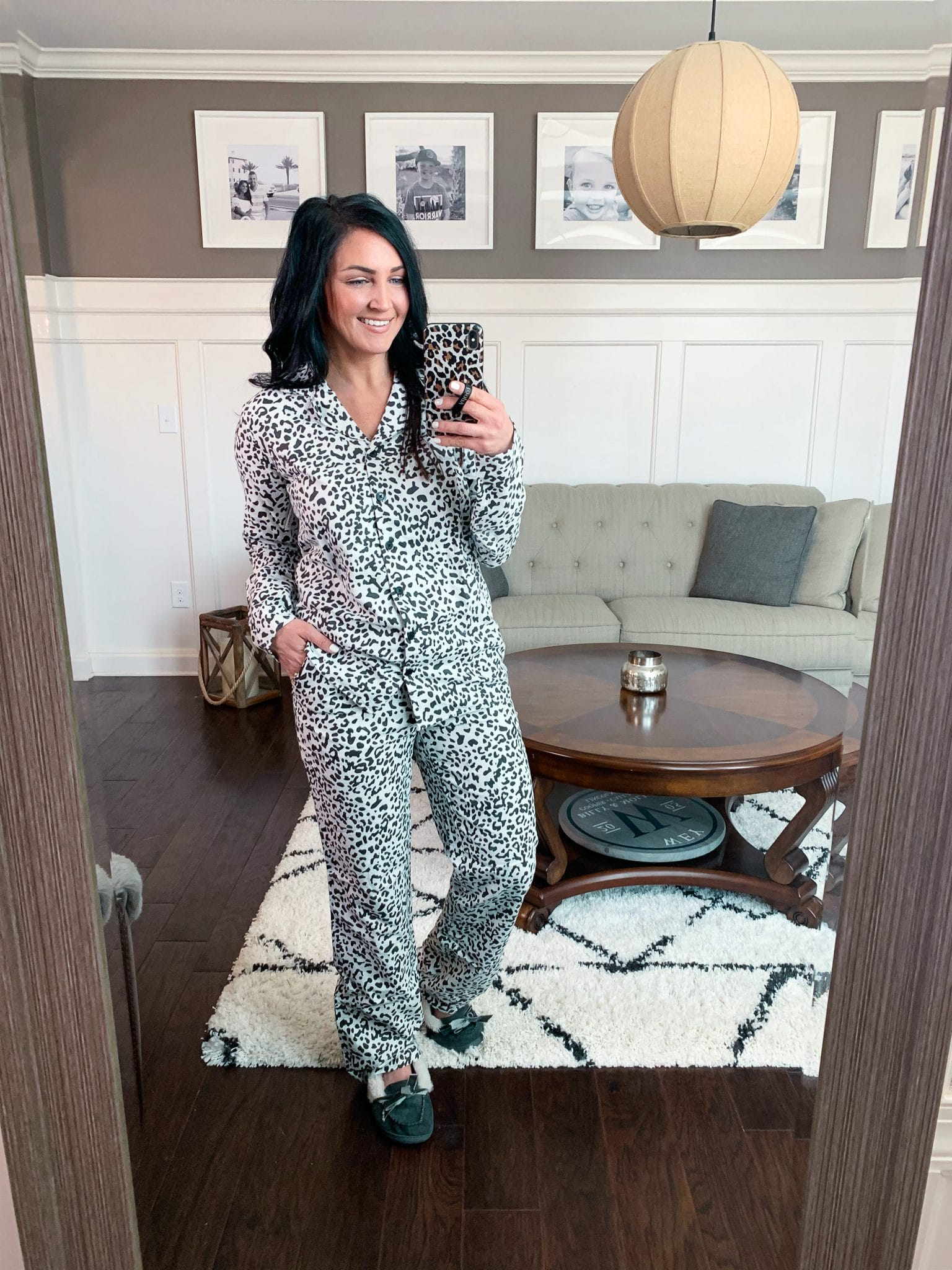 Leopard Pajama set, Amazon finds, Stilettos and Diapers, January Amazon, Molly Wey