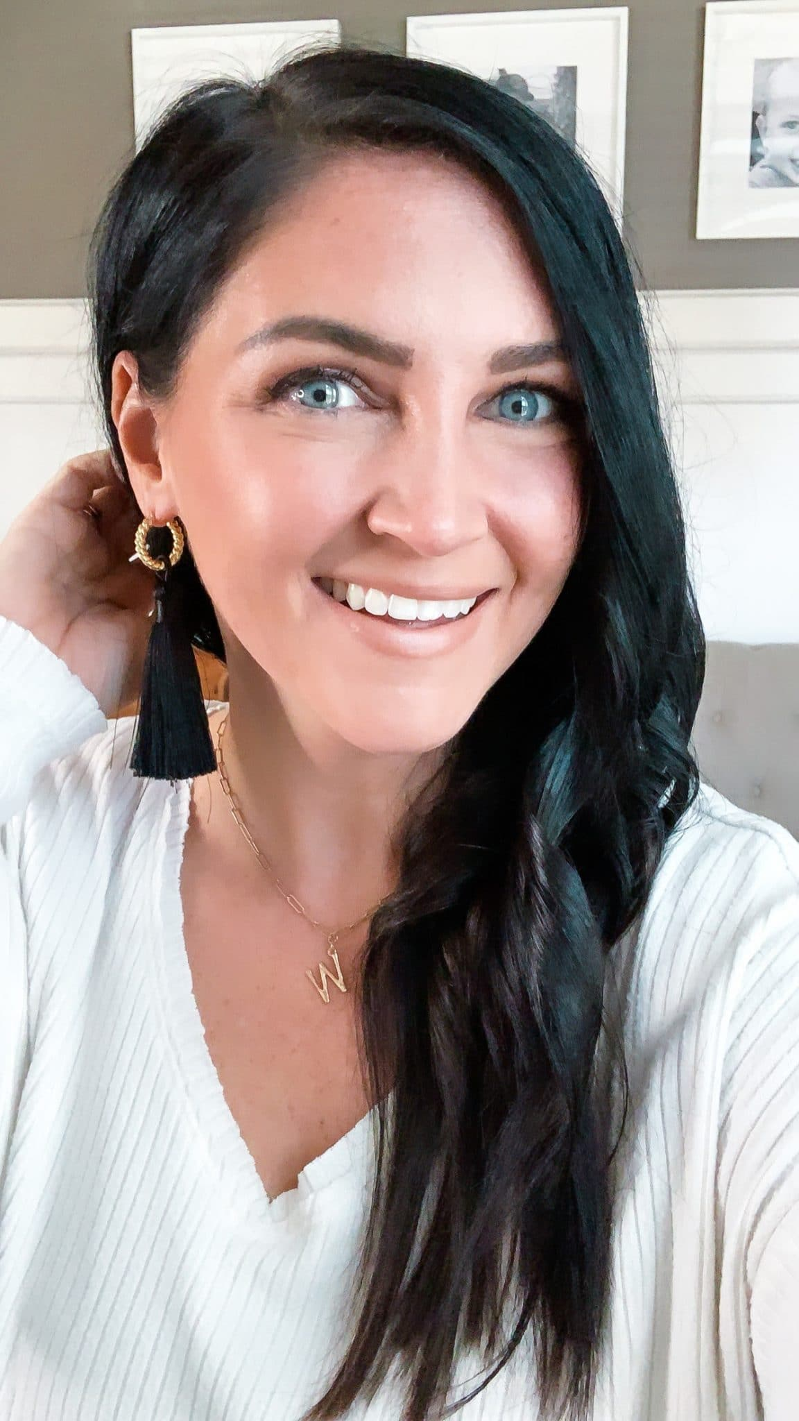 Hoop tassel earrings, January Target Finds, Stilettos and Diapers, Molly Wey
