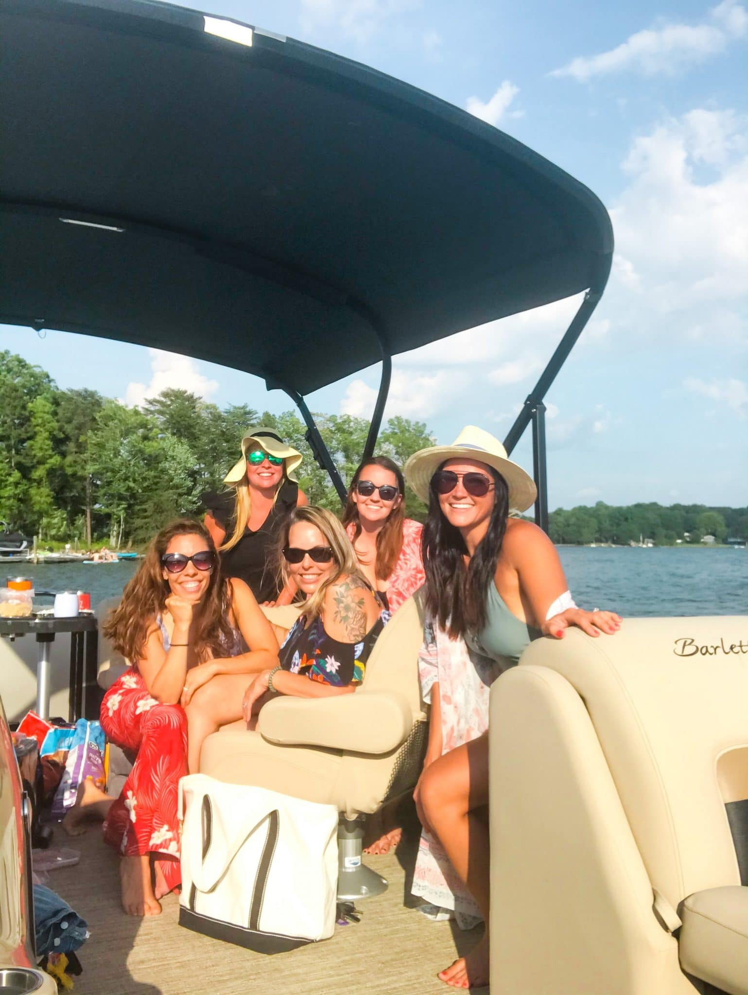 Lake Norman boat day, Stilettos and Diapers, Molly Wey