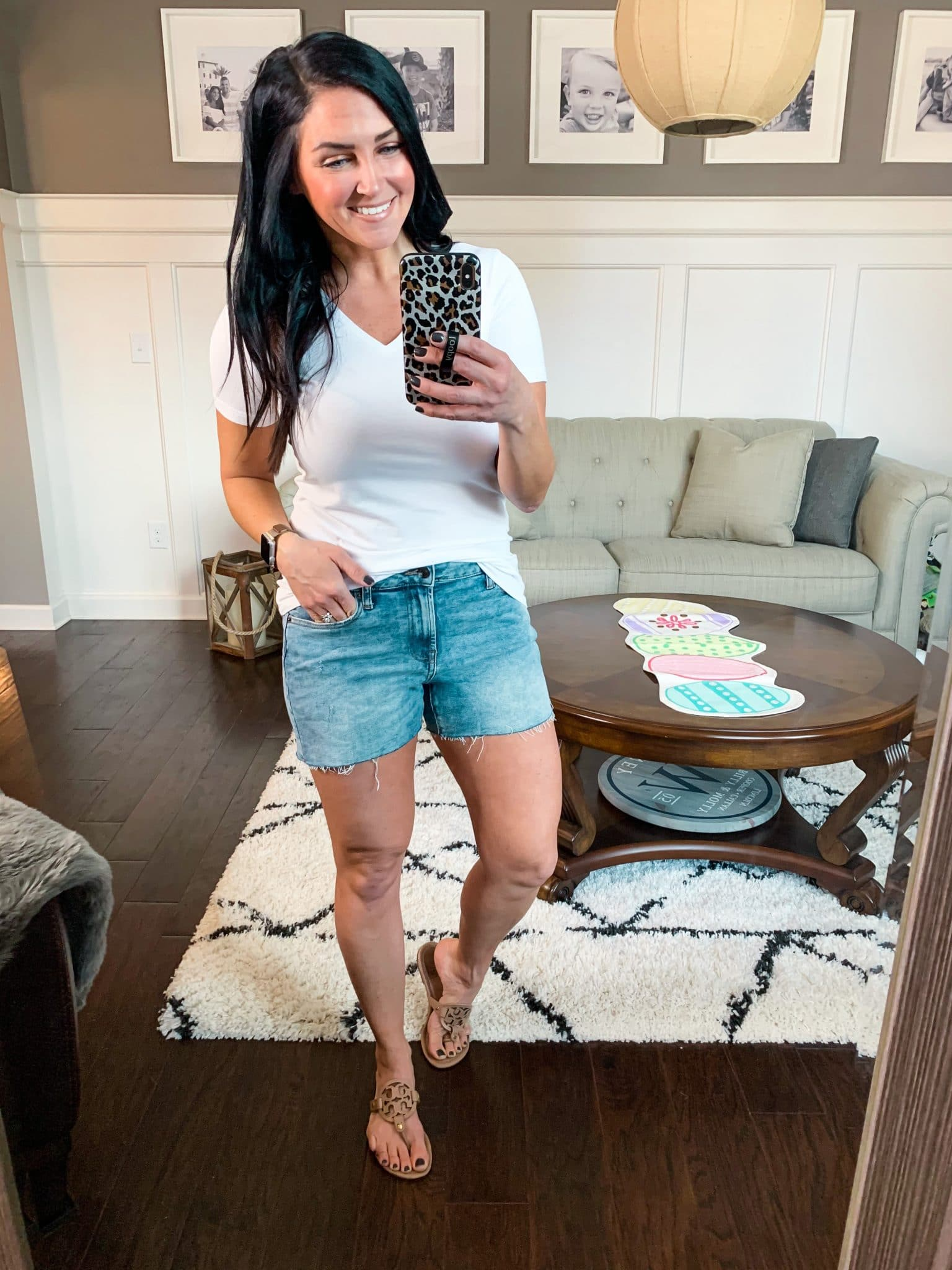 Amazon denim shorts, Spring Style, Amazon Spring Outfits, Stilettos and Diapers, Molly Wey