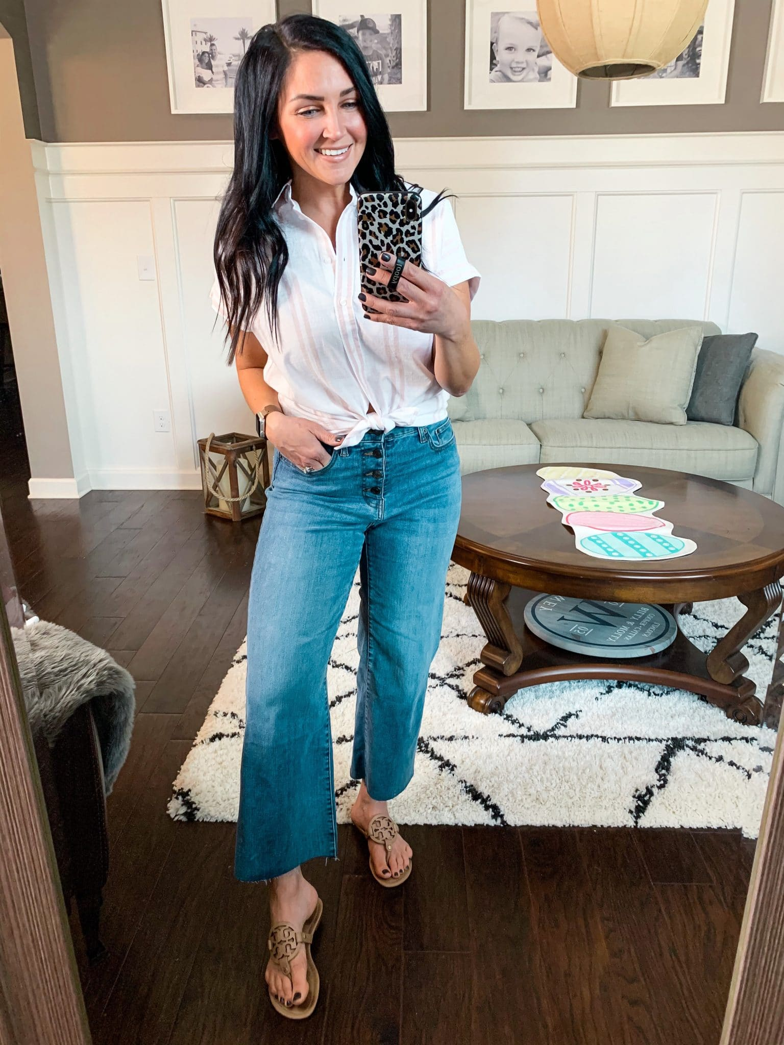 Wide leg denim, cute spring outfit, Spring Style, Amazon Spring Outfits, Stilettos and Diapers, Molly Wey