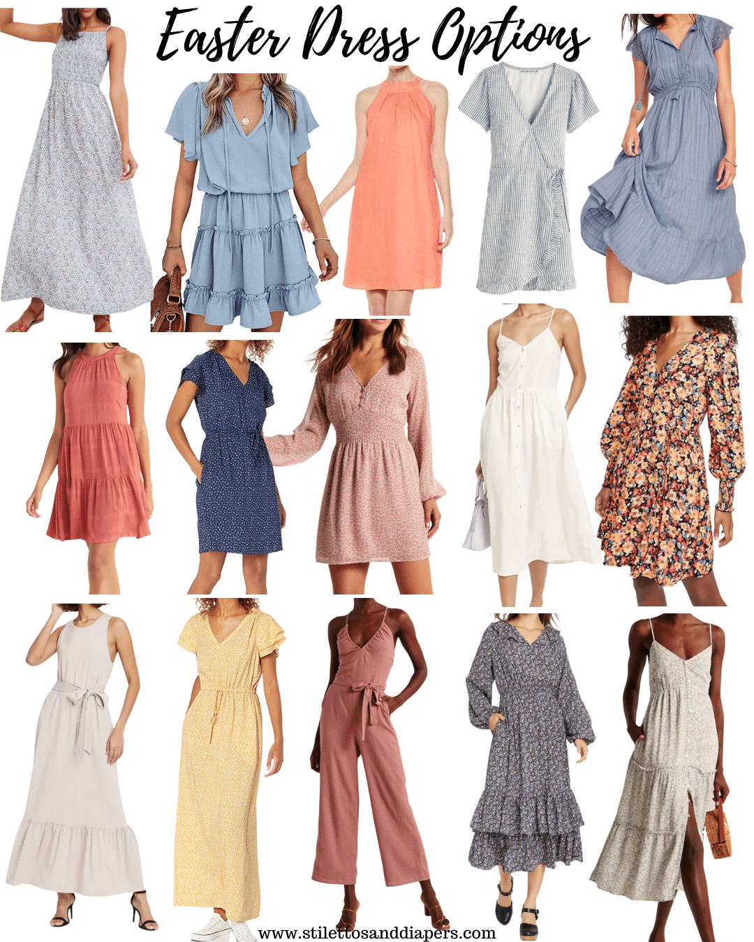Easter Dresses 2021, Spring Dress style, Spring Wedding guest, Stilettos and Diapers