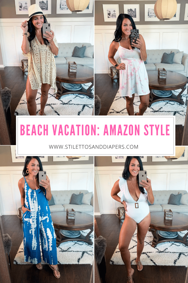 Beach vacation Amazon style, Stilettos and Diapers