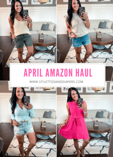 Amazon spring haul, Stilettos and Diapers, Molly Wey