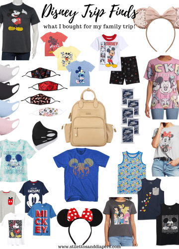 What I Packed for Disney, Disney Outfits for the family, Stilettos and Diapers