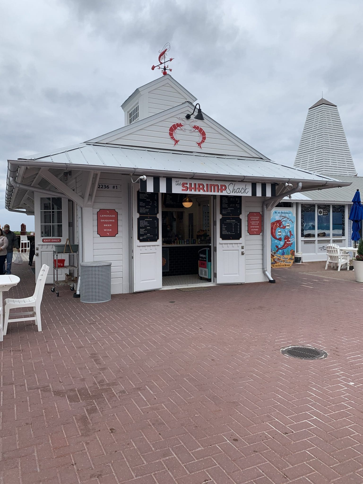 Shrimped Shack Seaside, 30A, Destin, Florida vacation 2021, Stilettos and Diapers