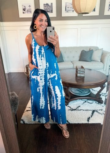 Tie Dye jumpsuit, swimsuit coverup, Beach style, Amazon Fashion, Amazon Style, Stilettos and Diapers, Molly Wey