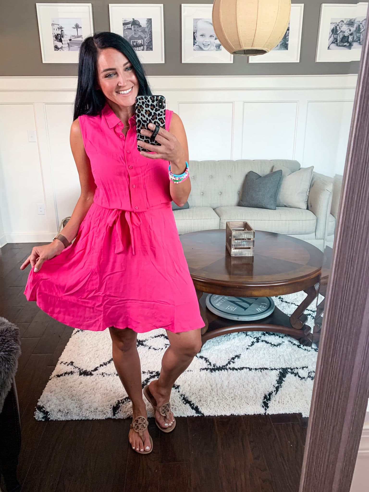 Hot pink summer dress, Amazon spring haul, Stilettos and Diapers, Molly Wey