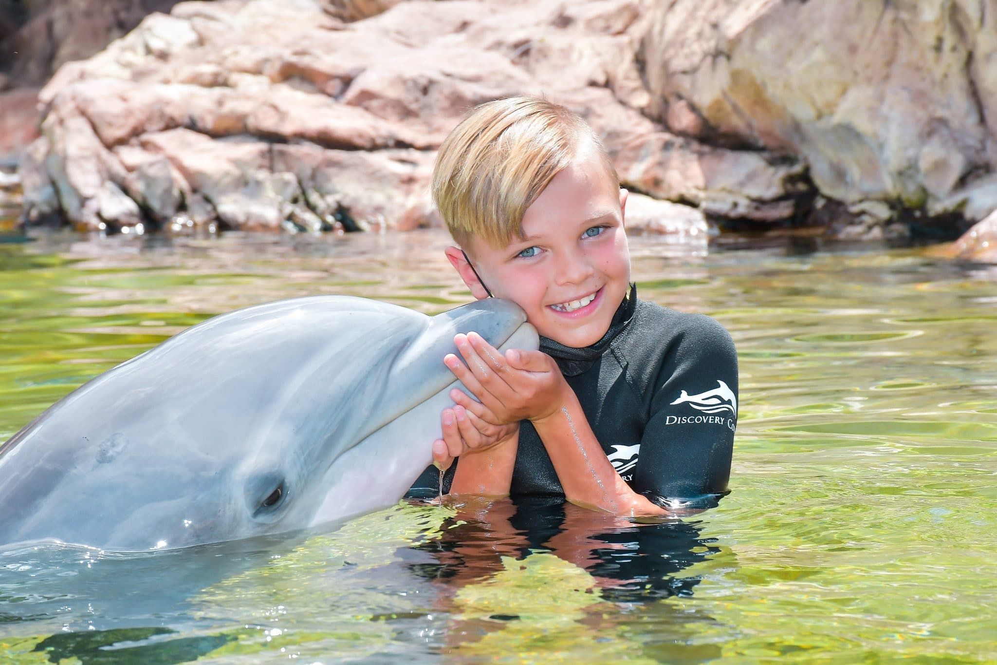 Discovery Cove swim with dolphins, Kissimmee Vacation, Family Travel, Florida All inclusive