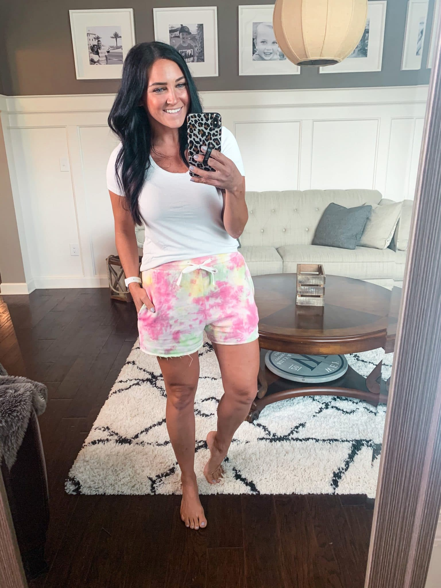 Summer Amazon Finds, Tie Dye sweat shorts, Stilettos and Diapers, Molly Wey