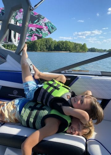 Lake Life, Lake Norman, Boating family, Stilettos and Diapers
