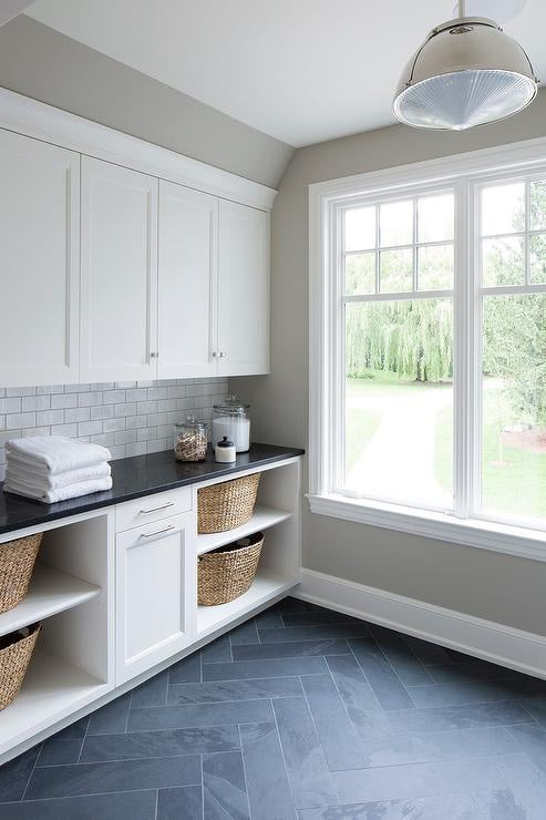 White Laundry with slate floors, Home Decor, New construction, Stilettos and Diapers