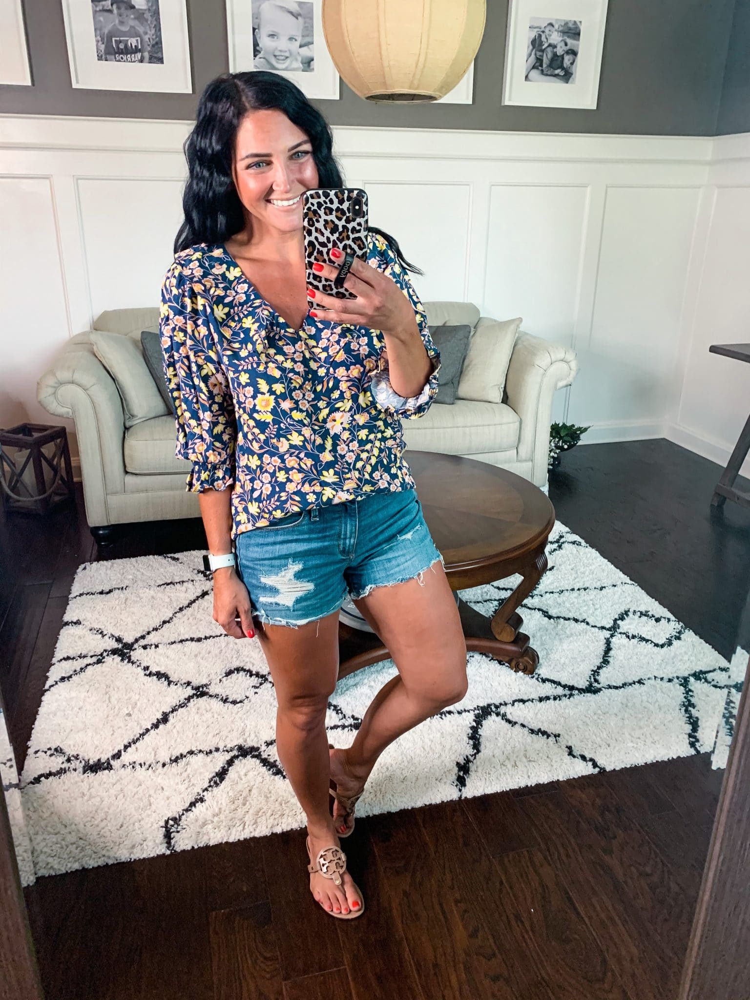 Floral blouse, Amazon Haul, Summer Style, Stilettos and Diapers, Molly Wey,