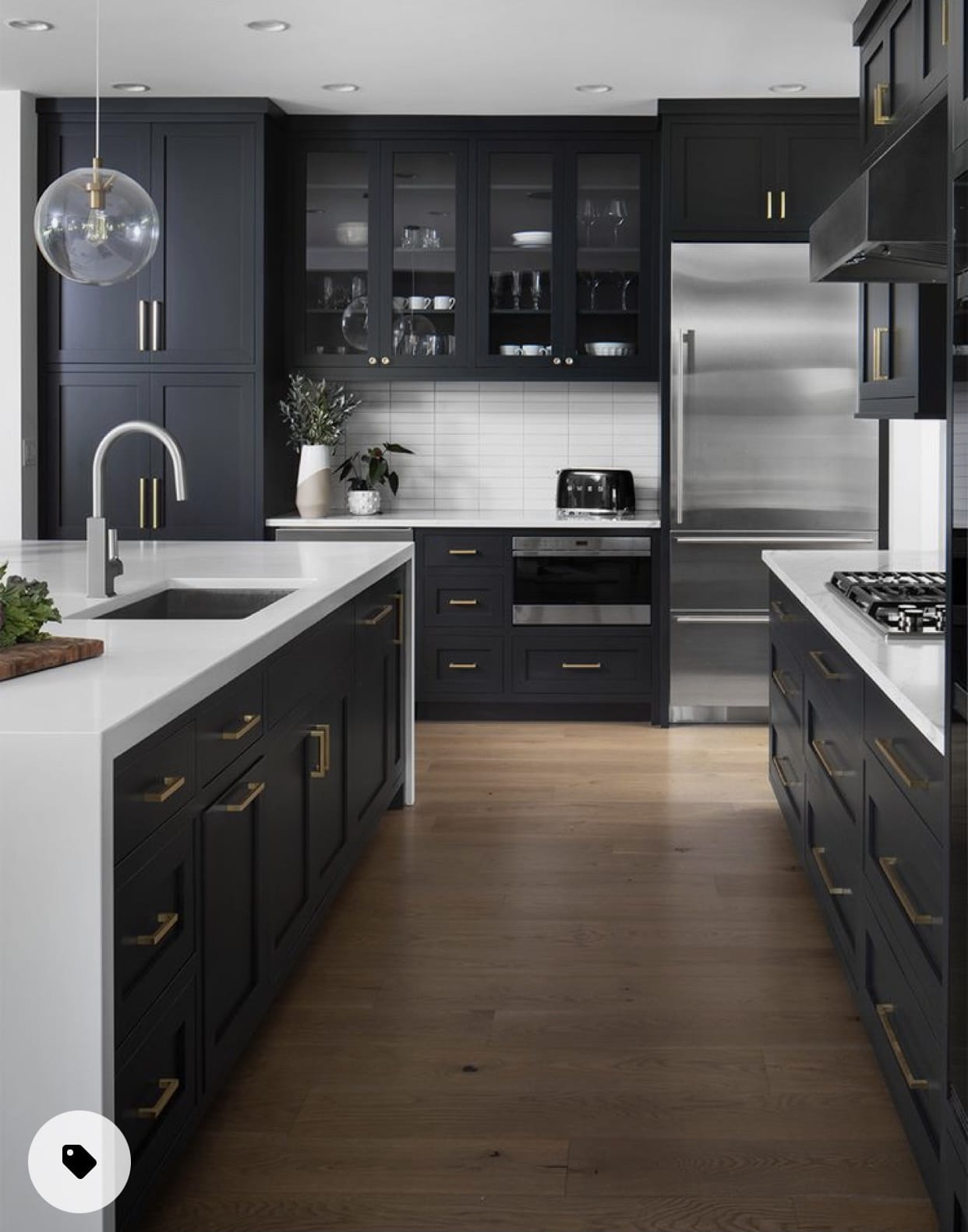 Dark kitchen with light floors, Home Decor, New construction, Stilettos and Diapers
