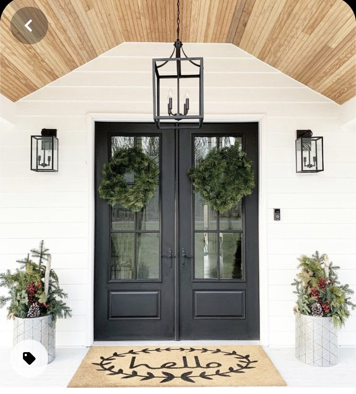 Double Black front doors, Home Decor, New construction, Dark house exterior, Stilettos and Diapers