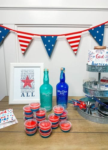July 4th Jell-O shots, Blue Chair Bay rum Recipes, Stilettos and Diapers