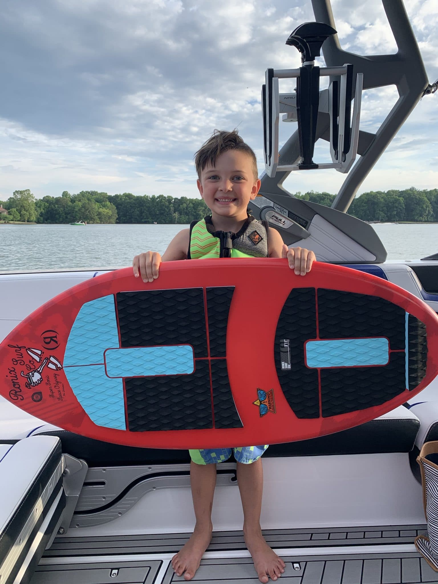Memorial Day Weekend, Summer Family Fun, Stilettos and Diapers, Lake Norman, Ronix Surf Board