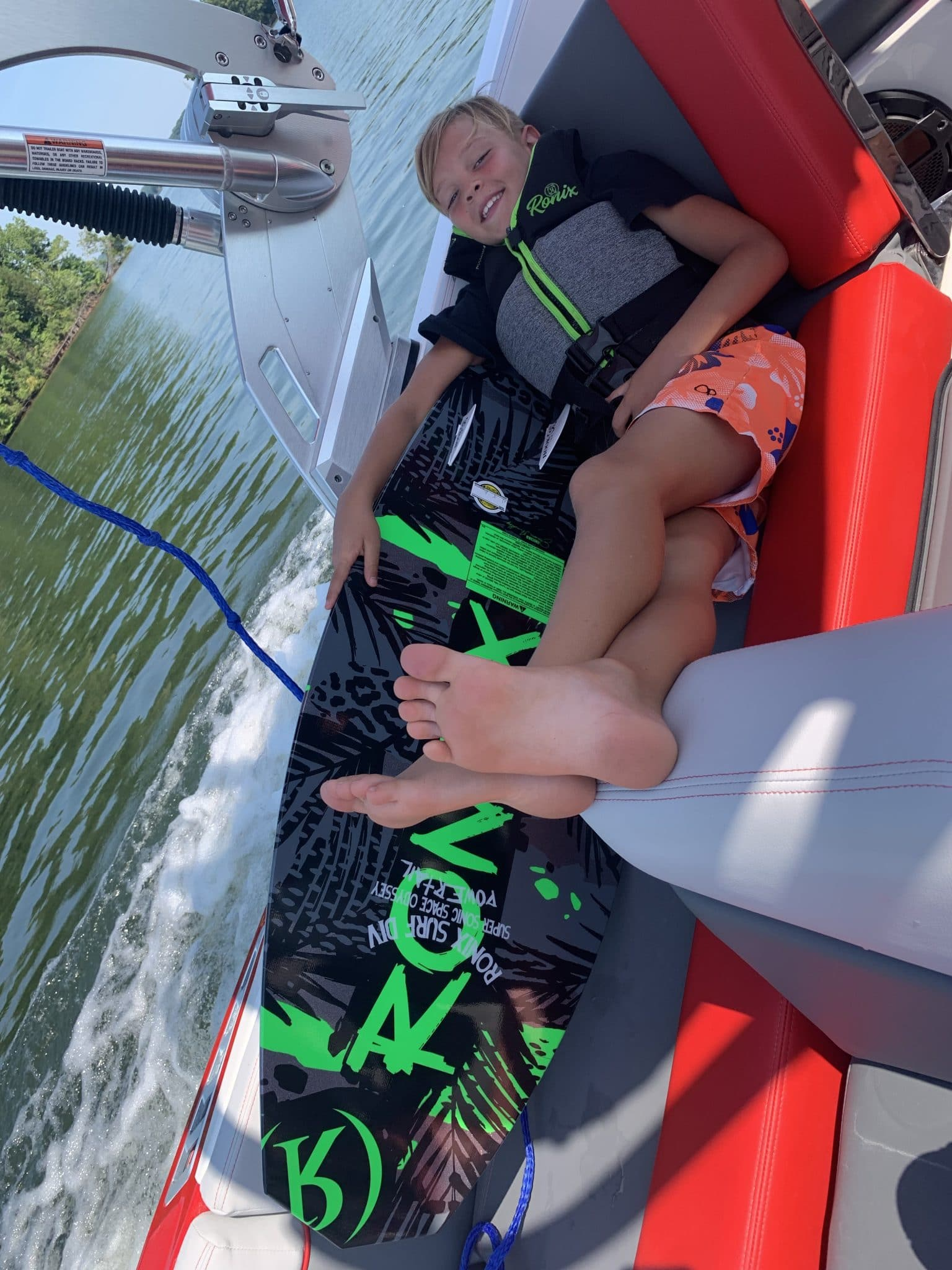 Lake Norman, WakeSurfing, Ronix, Stilettos and Diapers