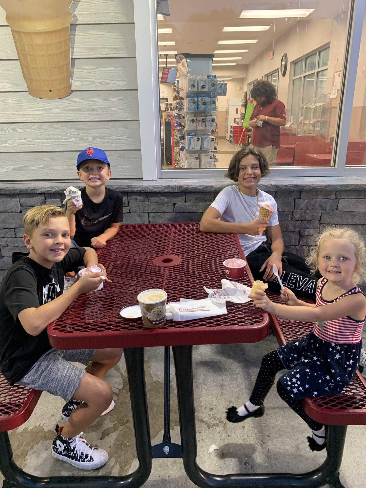 Stewarts ice cream, Upstate New York Summer Trip, stilettos and diapers