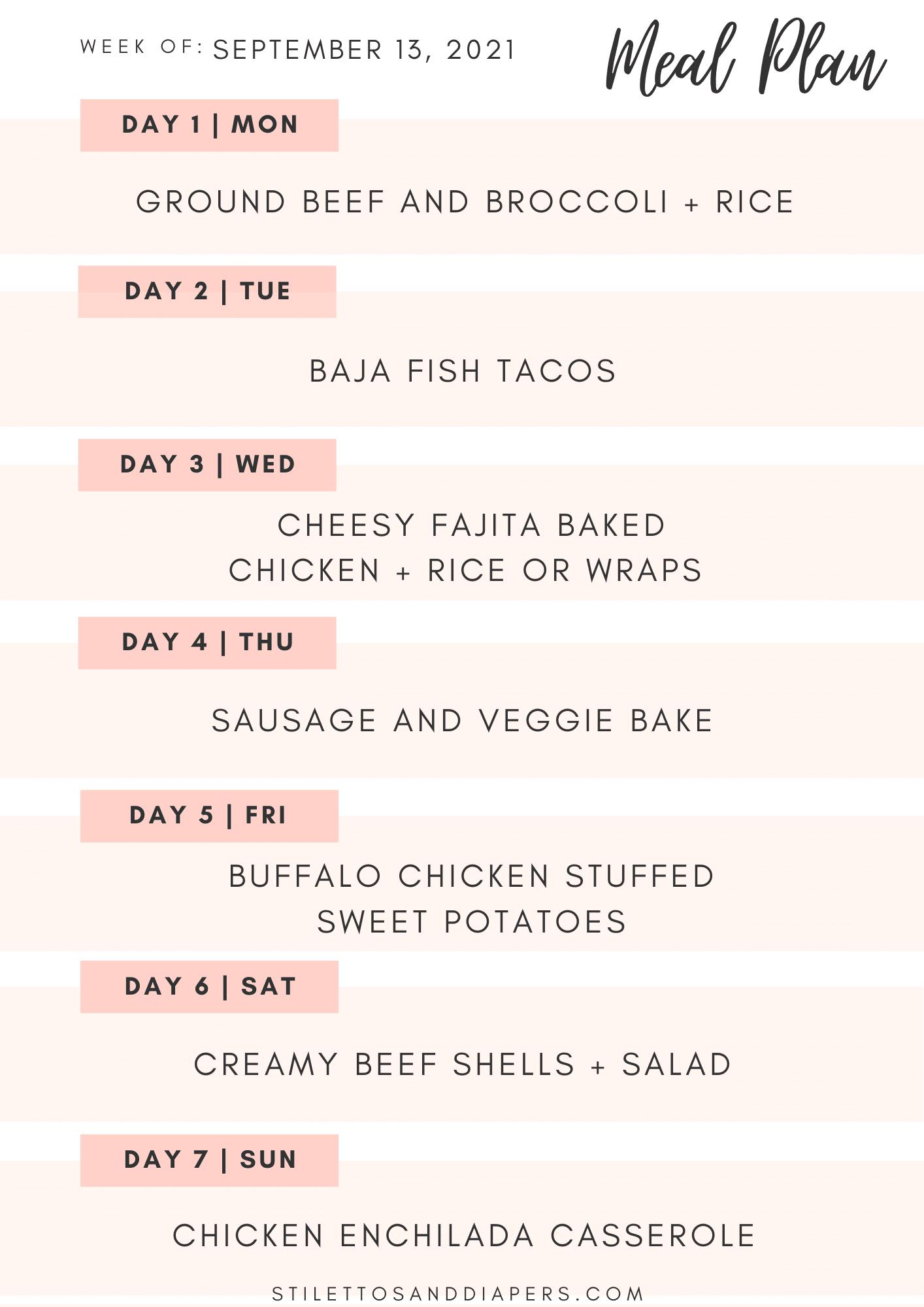 Weekly Meal Plan + Best Sellers