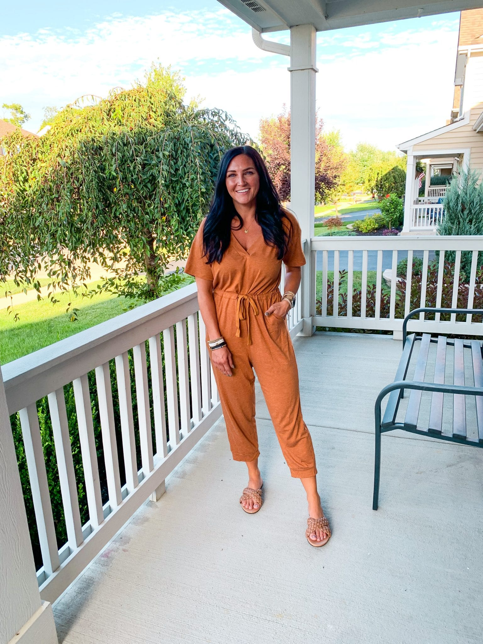 Travel outfit, Jumpsuit, Fall style, Stilettos and Diapers, Molly Wey
