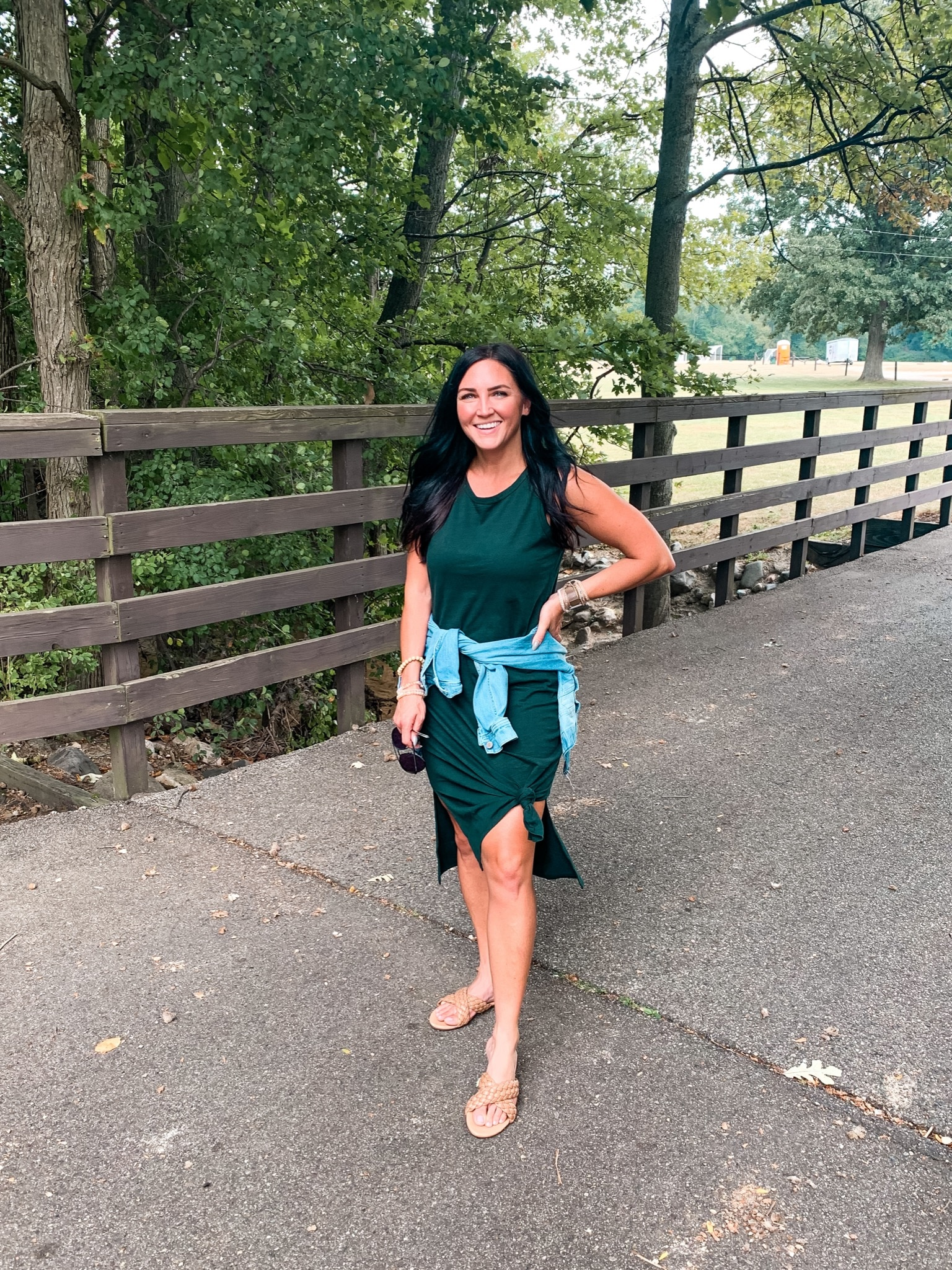 Fall transition style, how to style a midi dress, Stilettos and Diapers