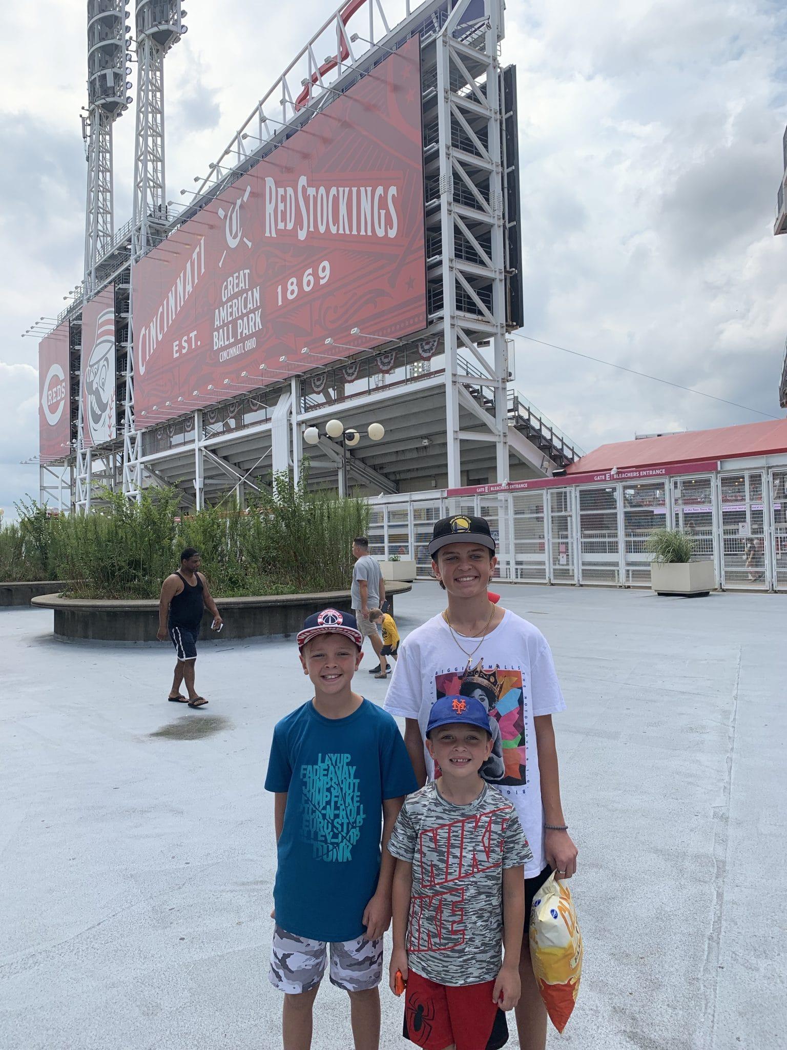 Cincinnati Reds game, Cincinnati Ohio, family time, fall baseball