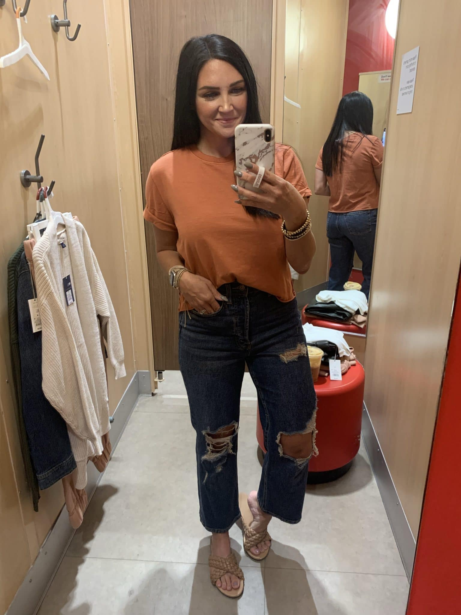 boxy cropped tee, boyfriend jeans, Target Fall Haul, Best Target finds, Stilettos and Diapers