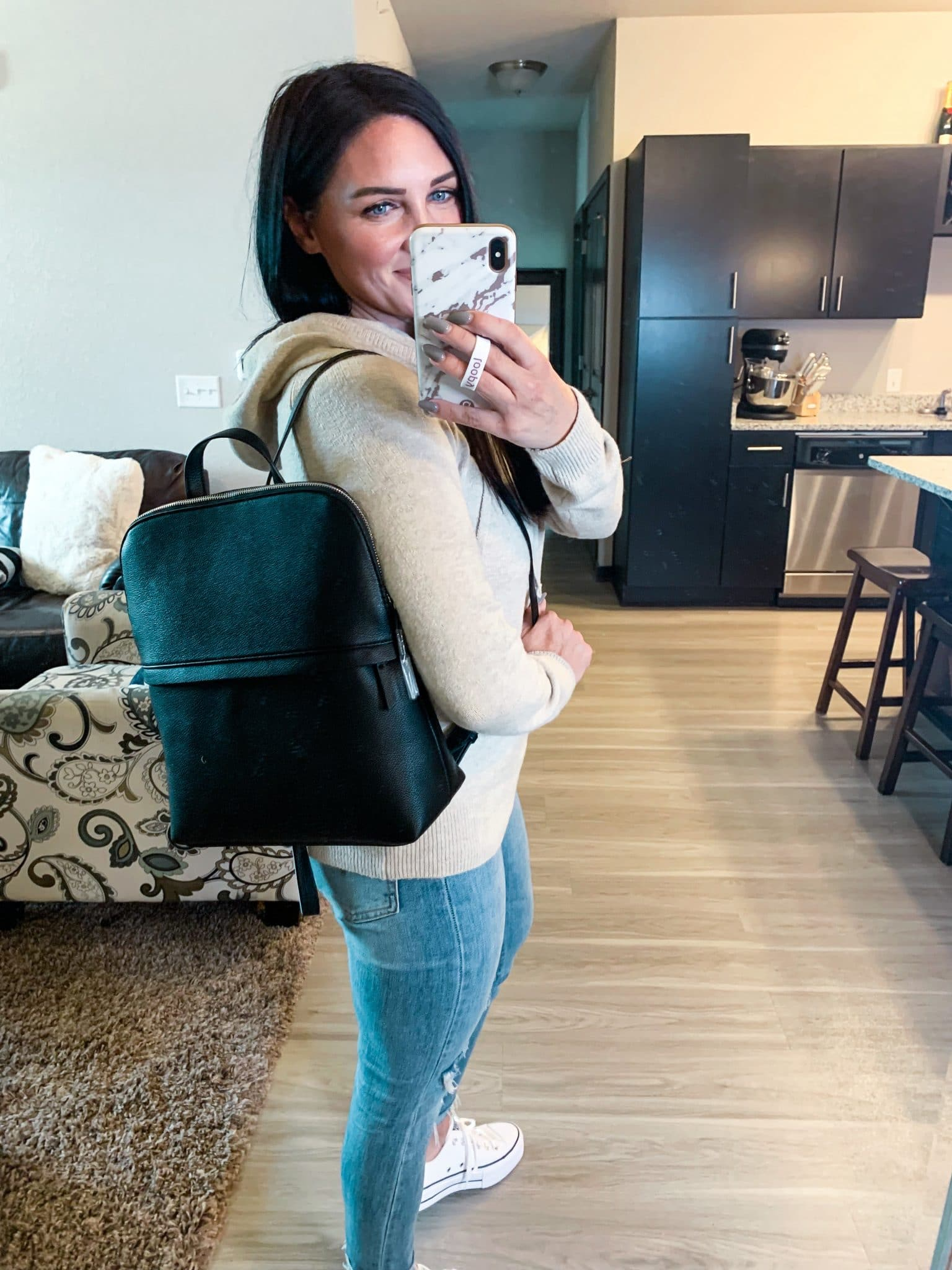 Versatile backpack purse, Amazon Fall Finds, Fall romper, Stilettos and diapers, Molly Wey