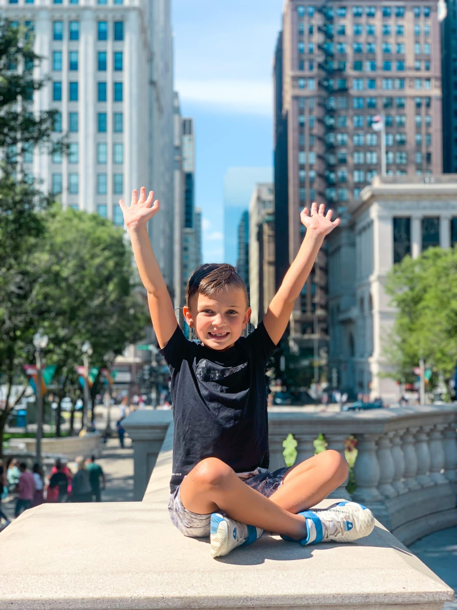 Millennium Park, Chicago family travel, Stilettos and Diapers