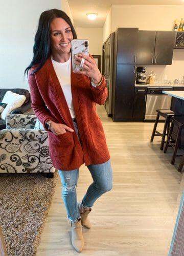 ribbed knit cardigan, Fall amazon fashion, #founditonamazon, Stilettos and Diapers